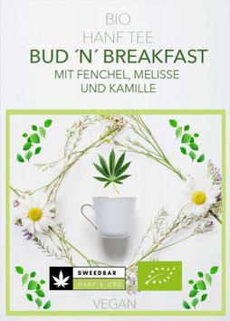 """""""Bud ´n´ Breakfast"""" Bio Hanf-Tee Fenchel-Melisse-Kamille 30g vegan, ohne Zusätze"""