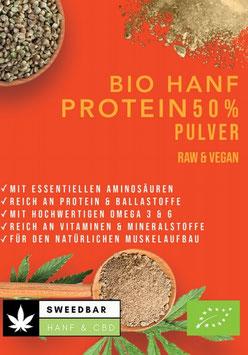 50% Protein Hanf- Pulver Bio, 18% Ballaststoffe