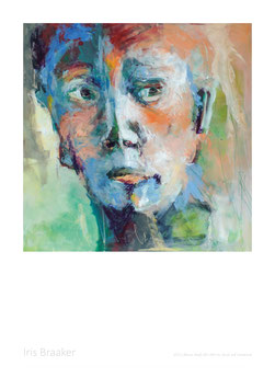 Plakat Blauer Kopf