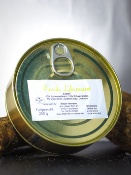 Leberwurst mit Meerrettich