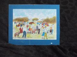 """Lithographie originale Urban Huchet """"Parcours de golf 2"""" Signée et numérotée 360/500"""