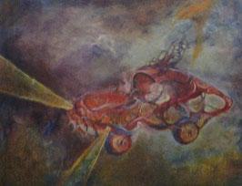 """Tableau """"Auto-suggestion"""", peinture à l'huile, de José Gerson"""