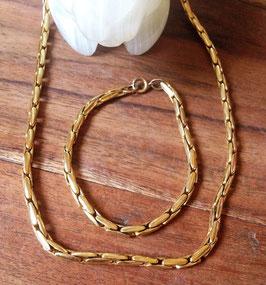 Collier ancien plaqué or - 80 cm