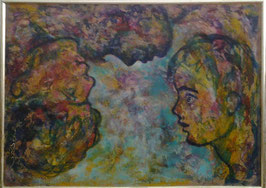 """Tableau """"Reflets"""", peinture à l'huile, de José Gerson"""