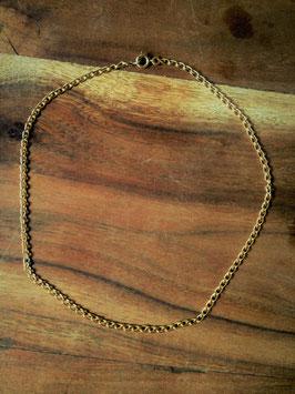 Collier-chaîne raz de cou ancien plaqué or - 42,5 cm