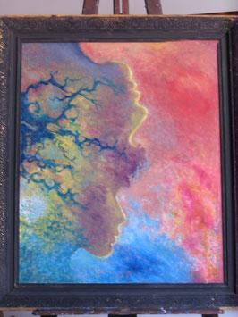 """Tableau """"Ramifications"""", peinture à l'huile, de José Gerson"""