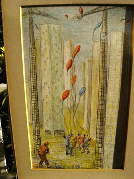 """Tableau """"Les Ballons"""" de M. Passavant"""