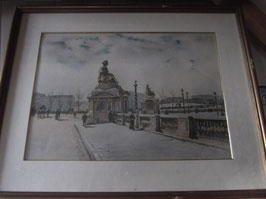 "Reproductions monuments, place et statues ""Lot de 5 tableaux"""