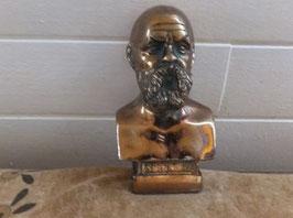 Portrait buste en bronze Socrates