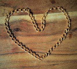 Collier-chaîne plaqué or - 61 cm