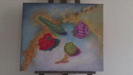 """Tableau """"Le 5ème élément"""", peinture à l'huile, de José Gerson"""