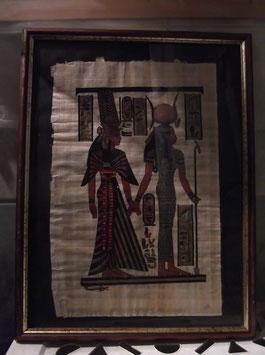 Tableau papyrus égyptien femmes