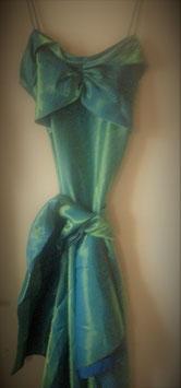 Robe de soirée Yves Calin verte
