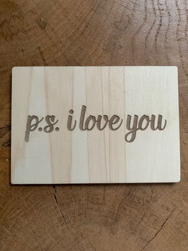 p.s. i love you  houten kaart