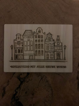 Gefeliciteerd met jullie nieuwe woning houten kaart