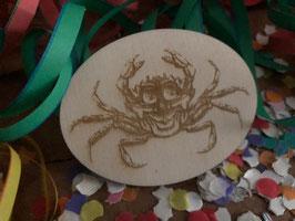 Krabbe broche vrolijke krab