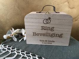Koffertje voor de trouwringen