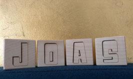 Houten blok middel 11,2 x 5,6 cm