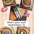 Next Destination .... Armbänder mit deinem nächsten Reiseziel...