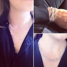 Wunderschöne extra lange funkelndes Armband, welches auch als Kette getragen werden kann.