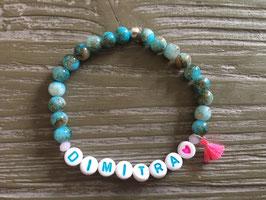 "Namens-Armband ""Big Beads"""