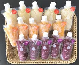 収穫の秋のフルーツセット    凍らせて食べるゼリー詰合せ 15個入(送料無料)