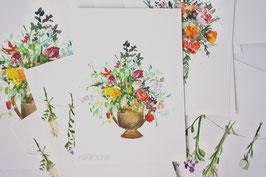 'watercolor floral III' fine-art print