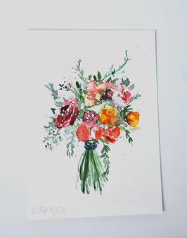 'Watercolor floral I' Fine-art print