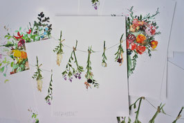 'Watercolor floral II' fine-art print
