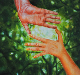 'How we often need someone to help us find the light' fine-art print