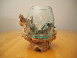 Wurzelholz mit 1 Glas  - W 19-1/19
