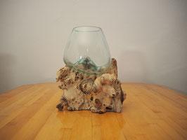 Wurzelholz mit 1 Glas  - W 19-2/7