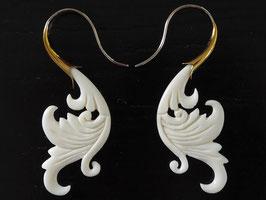 Ohrringe aus Büffelknochen - OR13