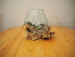 Wurzelholz mit 1 Glas  - W 19-2/14