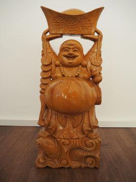 Buddha Figur mit Münzbarren
