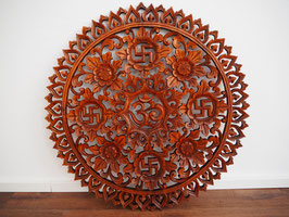 Mandala 2  - Wandbild mit Om und Svastika Ornamenten - XL