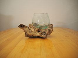 Wurzelholz mit 1 Glas  - W 19-1/35