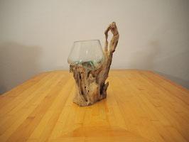 Wurzelholz mit 1 Glas  - W 19-1/33