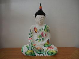 Buddha in Geste der Erdberührung aus Resin - B19/46