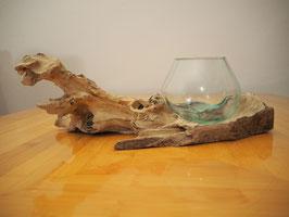 Wurzelholz mit 1 Glas  - W 19-1/32