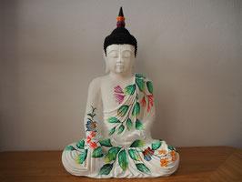 Buddha in Geste der Erdberührung aus Resin - B19/45