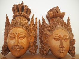 Rama und Sita Wandmasken Set - 2 Stück -Meisterstücke-
