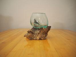 Wurzelholz mit 1 Glas  - W 19-1/39