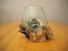 Wurzelholz mit 1 Glas  - W 19-1/21