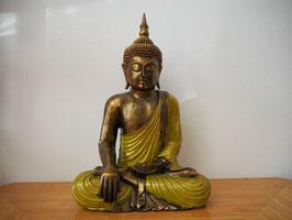Buddha in Geste der Erdberührung aus Resin - B19/49