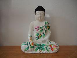 Buddha in Geste der Erdberührung aus Resin - B19/48