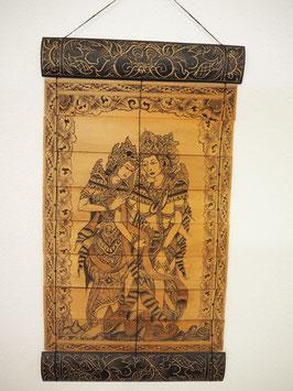Lontarbild Rama und Sita