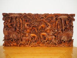 Ramayana Heldenepos 3 Schlacht - Relief-Wandbild -Meisterstück-