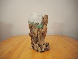 Wurzelholz mit 1 Glas  - W 19-1/25