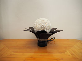 Muschellampe Palmblatt Blume (12 Blätter, dunkelbraun)